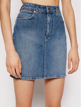 Wrangler Wrangler Spódnica jeansowa Mid W245JX28Z Niebieski Regular Fit