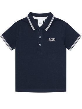 Boss Boss Тениска с яка и копчета J25P12 M Тъмносин Regular Fit