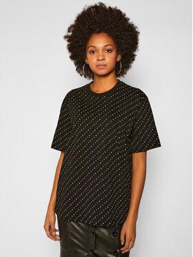 Victoria Victoria Beckham Victoria Victoria Beckham T-shirt 2320JTS001763A Crna Regular Fit