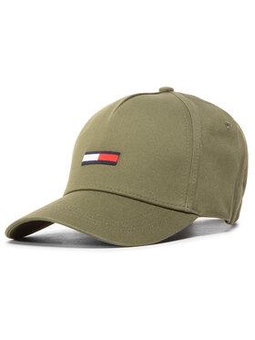 Tommy Jeans Tommy Jeans Șapcă Flag Cap AM0AM05190 Verde