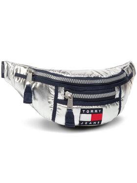Tommy Jeans Tommy Jeans Borsetă Tjw Hertiage Bumbag Metallic AW0AW09109 Argintiu