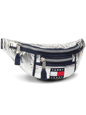 Tommy Jeans Tommy Jeans Ledvinka Tjw Hertiage Bumbag Metallic AW0AW09109 Stříbrná