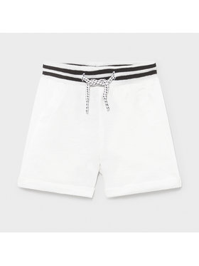 Mayoral Mayoral Short en tissu 1212 Blanc Regular Fit