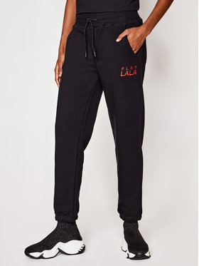 PLNY LALA PLNY LALA Spodnie dresowe Prima Mister 00006 Czarny Mister Fit
