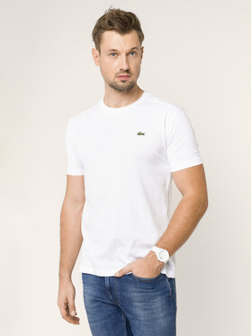 Lacoste Lacoste T-Shirt TH7618 Biały Regular Fit