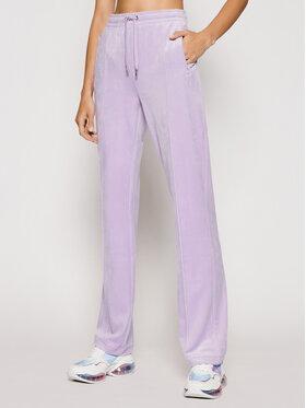 Juicy Couture Juicy Couture Sportinės kelnės Velour Diamante JCAPW045 Violetinė Regular Fit