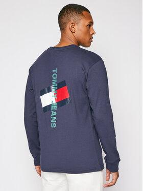 Tommy Jeans Tommy Jeans S dlhými rukávmi Vertical Tommy Logo DM0DM10241 Tmavomodrá Regular Fit