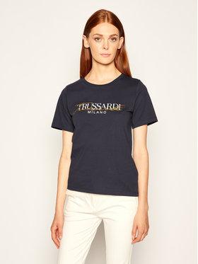 Trussardi Jeans Trussardi Jeans Marškinėliai 56T00281 Tamsiai mėlyna Regular Fit
