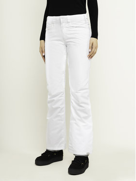 Roxy Roxy Сноуборд панталони Backyard ERJTP03091 Бял Slim Fit