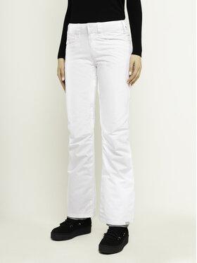 Roxy Roxy Spodnie snowboardowe Backyard ERJTP03091 Biały Slim Fit