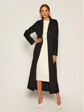 TwinSet TwinSet Vlnený kabát 202TP2053 Čierna Regular Fit