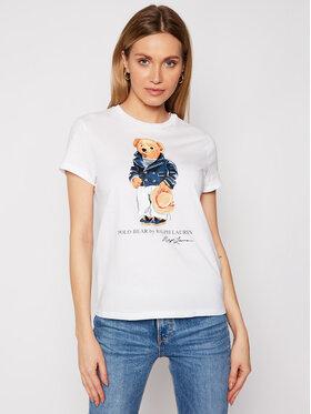 Polo Ralph Lauren Polo Ralph Lauren Marškinėliai Ssl 211827926001 Balta Regular Fit