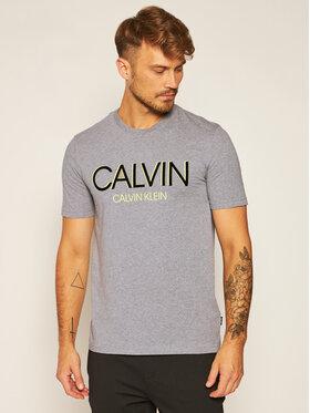 Calvin Klein Calvin Klein Tričko Shadow Logo K10K105569 Sivá Regular Fit