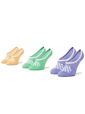 Vans Vans Set de 3 perechi de șosete scurte pentru copii Classic Marled Canoodles Small VN0A49Z8VCX1 r.31.5-36 Verde