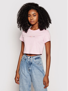 Calvin Klein Jeans Calvin Klein Jeans T-Shirt Pride J20J217203 Růžová Regular Fit