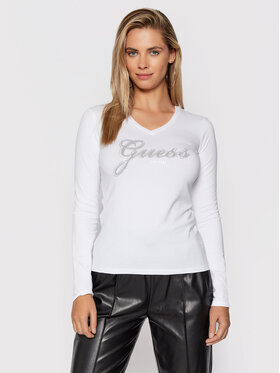 Guess Guess Μπλουζάκι Iradi W1BI01 J1311 Λευκό Regular Fit