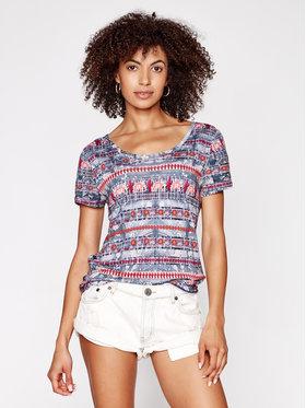 Desigual Desigual T-Shirt Santorini 21SWTK74 Kolorowy Regular Fit