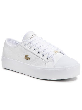 Lacoste Lacoste Sneakers aus Stoff Ziane Plus Grand 07211CFA 7- 41CFA005421G Weiß