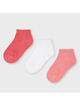Mayoral Mayoral Sada 3 párů dětských nízkých ponožek 10058 Růžová