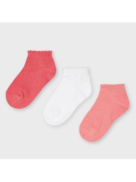 Mayoral Mayoral Súprava 3 párov detských členkových ponožiek 10058 Ružová