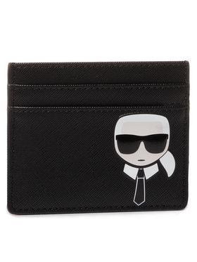 KARL LAGERFELD KARL LAGERFELD Kreditinių kortelių dėklas 201W3209 Juoda