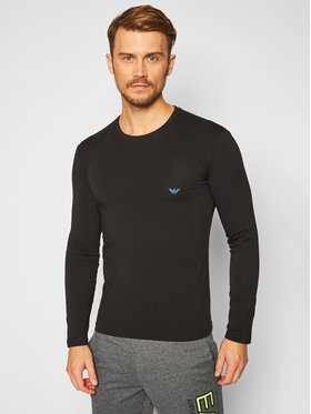 Emporio Armani Underwear Emporio Armani Underwear Majica dugih rukava 111023 0A725 00020 Crna Slim Fit