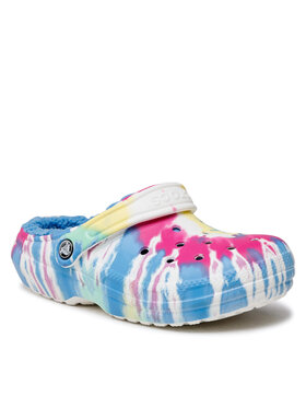 Crocs Crocs Шльопанці Classic Lined Tie Dye Clog 206341 Кольоровий