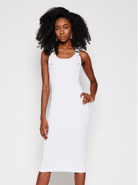 Versace Jeans Couture Versace Jeans Couture Kasdieninė suknelė D2HWA439 Balta Slim Fit