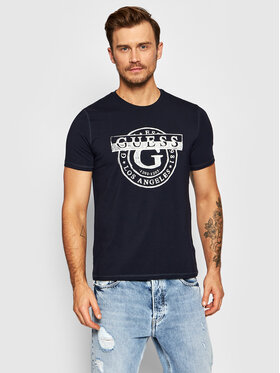 Guess Guess T-shirt M1BI35 J1311 Bleu marine Slim Fit