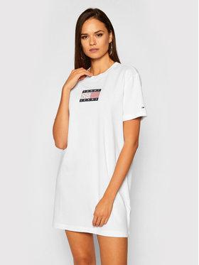 Tommy Jeans Tommy Jeans Hétköznapi ruha Logo Tee DW0DW08463 Fehér Regular Fit