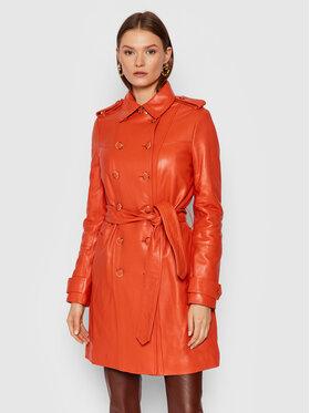 Guess Guess Lederjacke Felicia W1BL25 L0PK0 Orange Regular Fit