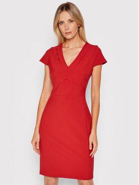 Boss Boss Sukienka koktajlowa Dilira 50453558 Czerwony Slim Fit