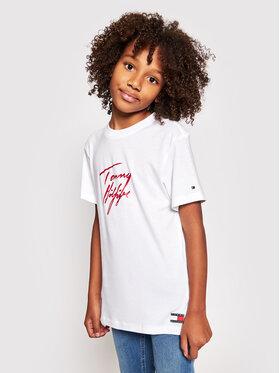 Tommy Hilfiger Tommy Hilfiger T-Shirt UG0UG00351 Biały Regular Fit