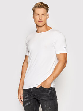 Guess Guess T-shirt U1GM01 JR06A Blanc Slim Fit