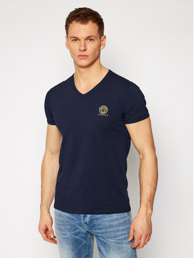 Versace Versace T-shirt Scollo AUU01004 Blu scuro Regular Fit