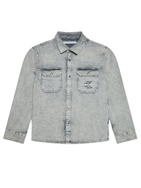 Calvin Klein Jeans Calvin Klein Jeans Koszula Cloud Washed Shirt IB0IB00708 Szary Regular Fit