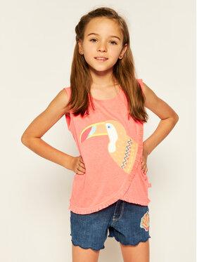 Billieblush Billieblush Marškinėliai U15709 Rožinė Regular Fit