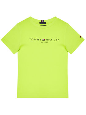 Tommy Hilfiger Tommy Hilfiger T-Shirt Essential Logo KB0KB05844 M Zielony Regular Fit