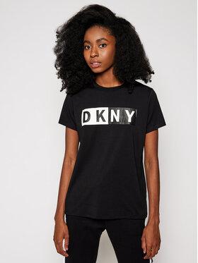 DKNY Sport DKNY Sport Тишърт DP8T5894 Черен Regular Fit