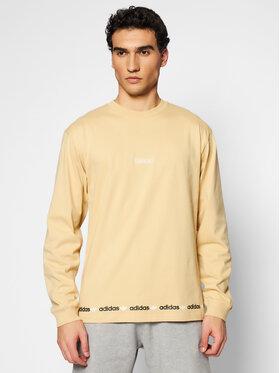 adidas adidas Marškinėliai ilgomis rankovėmis Linear Repeat GN3879 Smėlio Standard Fit