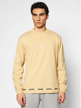adidas adidas Тениска с дълъг ръкав Linear Repeat GN3879 Бежов Standard Fit
