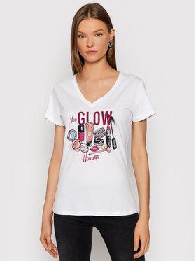 Liu Jo Liu Jo T-shirt WF1185 J6287 Bijela Regular Fit