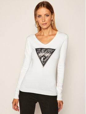 Guess Guess Пуловер Giulia W0YR13 Z2NQ0 Бял Slim Fit