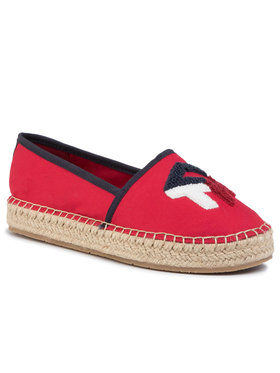 TOMMY HILFIGER TOMMY HILFIGER Espadrilles Th Patch Espadrille FW0FW04633 Rot