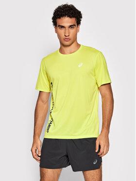 Asics Asics Тениска от техническо трико Run Ss 2011B872 Жълт Regular Fit