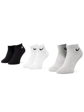 NIKE NIKE Σετ 3 ζευγάρια κοντές κάλτσες unisex SX7677 901 Έγχρωμο