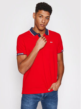 Tommy Jeans Tommy Jeans Polo Detail Rib Jaquard DM0DM10326 Rosso Regular Fit