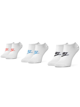 NIKE NIKE Комплект 3 чифта къси чорапи унисекс SK0111 911 Бял