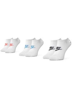NIKE NIKE Sada 3 párů nízkých ponožek unisex SK0111 911 Bílá