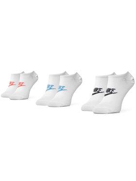 Nike Nike Unisex trumpų kojinių komplektas (3 poros) SK0111 911 Balta